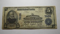 5 1902 Bayside New York Ny National Currency Bank Note Bill Ch. 7939 Rare
