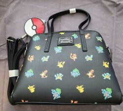Loungefly Pokemon Starter Black Crossbody Bag Purse Rare NEW with tags NWT $89.99