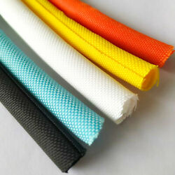Split Braided Sleeving Tube Cable Wire Sheath Flame Retardant Insulation 5-60mm