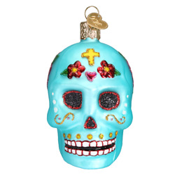 Old World Christmas DAY OF THE DEAD 26069 N Glass Ornament w OWC Box