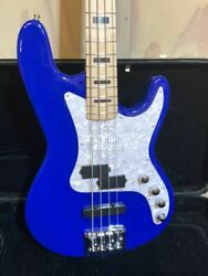 Kiesel Carvin Handmade Royal Blue 4 String Electric Bass Guitar Made In Usa