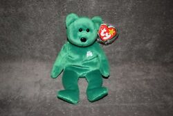 1997 Ty Rare And Retired Beanie Babies Erin Lucky Shamrock Mint Condition