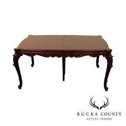 Georgian Style Vintage Carved Mahogany Expandable Dining Table