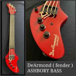 De Armond Ashbory Red 18 Inches Mini Electric Bass Guitar Shipped From Japan