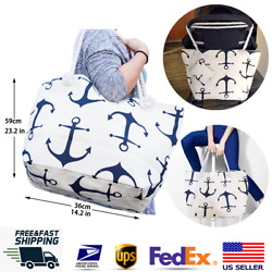 Large Canvas Tote Bag for Women Tote Shopping Bag with Zipper Rope Handle JJMG $12.99