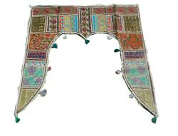 Gate Deco Valance Indian Traditional Toran Embroidered Topper Door Hanging