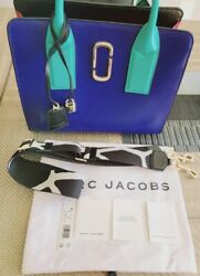 Marc Jacobs Multicolor Cross Shoulder Leather Bag with Papers and Dust Bag $130.00