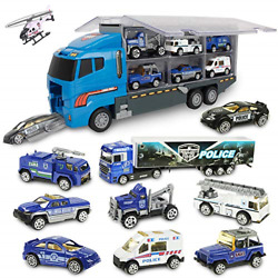 Jenilily Mini Model Vehicle Cars Toy Trucks,excavator,cement Roller For Kids Age