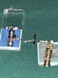 2 Vintage Protector Lamp Lighting Miners Collectible Mining Equipment Tie Clip