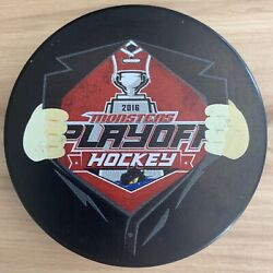 Lake Erie Monsters 2016 Ahl Calder Cup Playoffs Hockey Puck Superman Style