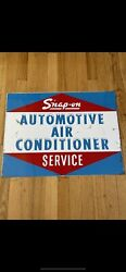 Very Rare Vntg Orig Snap-on Automotive Air Conditioner Service Double Sided Sign