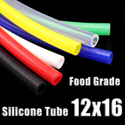 Food Grade Silicone Tubing 12x16mm Vacuum Hose Drinking Pipe Multiple Colour