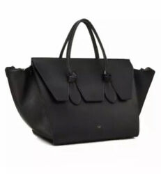 Celine Tie Knot Tote Bag Grained Pebbled Leather