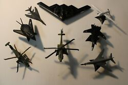 Lot Of 8 Diecast Toy Military Airplanes Aircraft Metal Plastic, Apache Lancer Pr