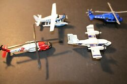Lot Of 4 Diecast Toy Airplanes Aircraft Metal Plastic, Swat Coast Guard, Sea