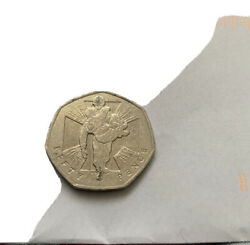 50p Coin Rare Victoria Cross Wounded Soldier
