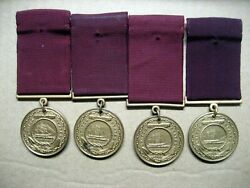 /medal Us Navy Good Conduct,named 1940-1950s,lot Of 4