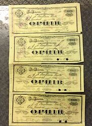 Nevada Ophir Silver Mining Co 1908 Lot Of 5 Certificates Scarcer