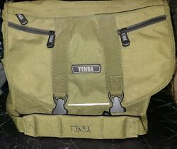 Olive Green Tenba Messenger Camera Laptop Bag Discontinued Great condition $60.00