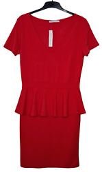 Definitions Red Dress Size 14. Peplum Style. Suit Formal and Casual Occasions. GBP 19.00