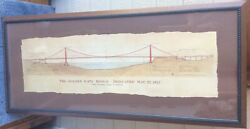 The Golden Gate Bridge By John A. Roebling Civil Engineer Architecture Drawing