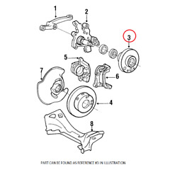 Genuine Front Wheel Hub 2013301825 For Mercedes-benz W201 190d 1985