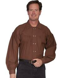 Rangewear By Scully Old West Style Double Button Placket Shirt - Rw230-cho
