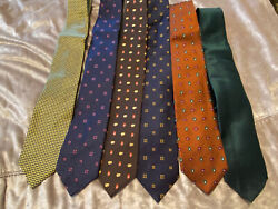 Nwt New Brooks Brothers Lot Of 5 Neck Ties - 550 Msrp Made In Usa