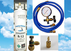 R12, Refrigerant 12, Professional Recharge Kit, 28 Oz Can With Gauge Hoses