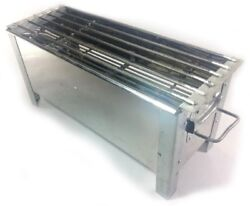 24 Bbq Grill Smoker Table Top Silver Charcoal / Wood Small Family Party Outdoor