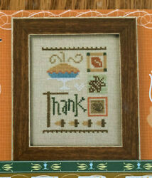 Lizzie Kate Cross Stitch Pattern ONLY Celebrate Thank Thanksgiving Holiday $8.95