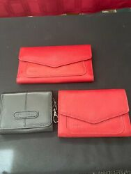 3 Vintage Fossil Wallets $22.75