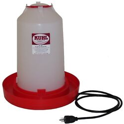 1 - Three Gallon Heated Waterer, Heated Chicken Waterer, Heated Poultry Fount
