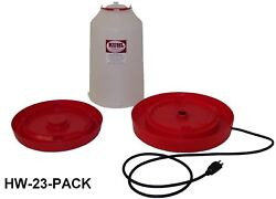 1-three Gallon Heated Chicken Waterer Combo With Regular Base Incl.