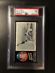 1971 Topps Greatest Moments Maury Wills 29 Psa 7 Nm Near Mint