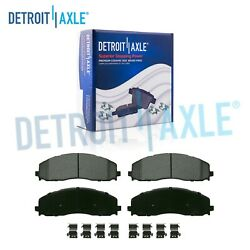 Front Ceramic Brake Pads With Hardware For 2013-2021 Ford F-250 F-350 Super Duty