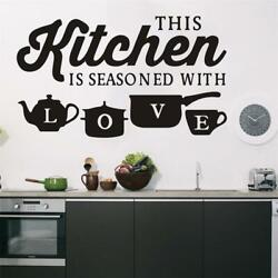 Kitchen Home Wall Sticker PVC Art Wall Decal Bedroom Room Decoration Removable
