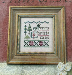 Lizzie Kate Cross Stitch Pattern ONLY a Little Christmas Holiday $8.95