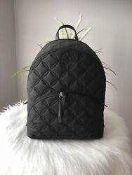 New Kate Spade Karissa Nylon Quilted Large Backpack Black College Travel 329