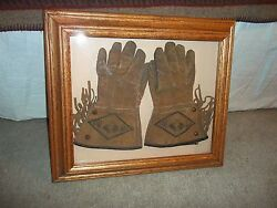Tom Mix Kids Gloves - 1940's And Tom Mix Book - Foreword By Gene Autry
