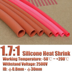 Red Flexible Silicone Heat Shrink Tube 200℃ 2500v Wire Cable Soft Sleeving