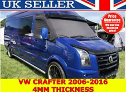 🇬🇧🌟 Vw Crafter 2006-2017 Bonnet Bug Wind Stone Deflector Protector Guard