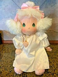 15 Applause Precious Moments Angel Doll W/pink Bows And Neck Pendant - Nwt