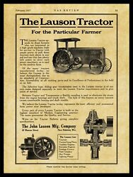 1917 John Lauson Co. New Metal Sign Lauson Tractor And Gas Engine - New Holstein
