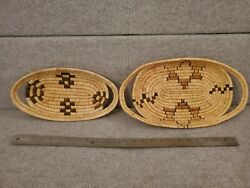 2 Charleston Sweetgrass New Oval Fanner Basket 15x 8, 6.5x12.5 Approximate
