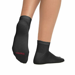 Hanes Menand039s Anklet Cushioned No Show Invisible Sports Antibacterial Socks Lot