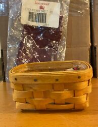Longaberger 1999 Business Card Basket Combo Traditional Red