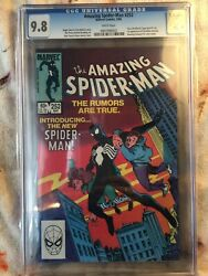 Amazing Spider Man 252 First Black Suit first appearance symbiote venom CGC 9.8
