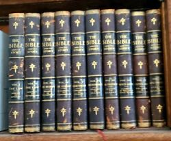 Religion The Bible And Its Story 10 Volumes Leather Illustrated Book