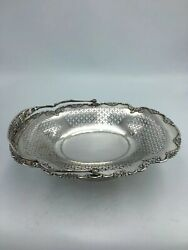 Chinese Export Solid Silver Bread Basket